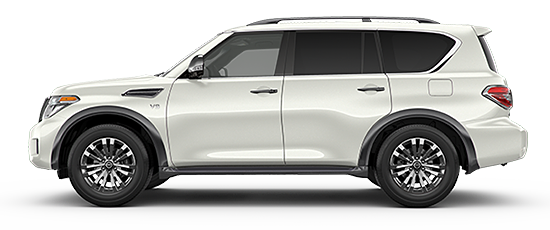 Photo of the Nissan Armada Platinum Reserve full-sized SUV.