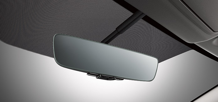 Frameless Auto-dimming Rearview Mirror with Universal Remote